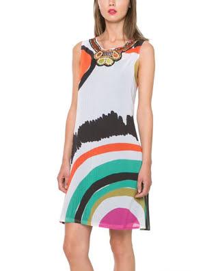Đầm không tay Desigual Raquel Dress - 61V2LC9100036