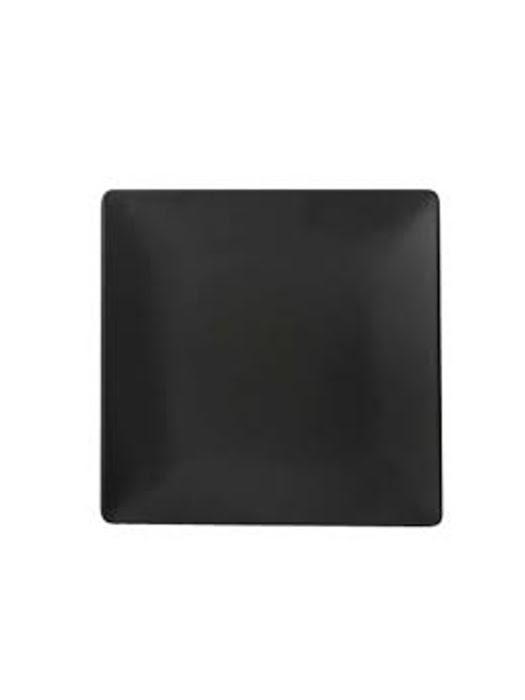 Dĩa vuông melamin Kormel 220mm màu đen - E10507.B