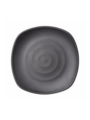Dĩa melamin Kormel 273x273mm màu đen - E10581.B