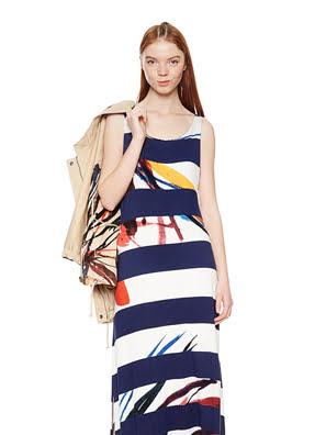 Đầm dài Desigual DRESS NAVY màu xanh Navy - 18SWVKB45000