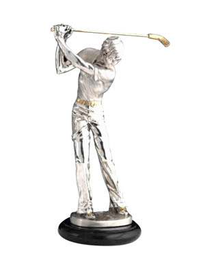 Tượng chơi gofl Goldline Italia cao 34cm - 714