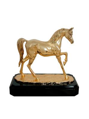 Tượng ngựa ARABIAN Goldline Italia - D2569G/BL