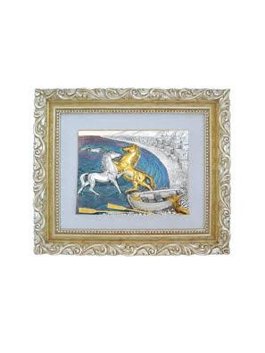 Picture of Tượng ngựa trên bờ biển Goldline Italia 72.5x61.5cm - CL-G/1501