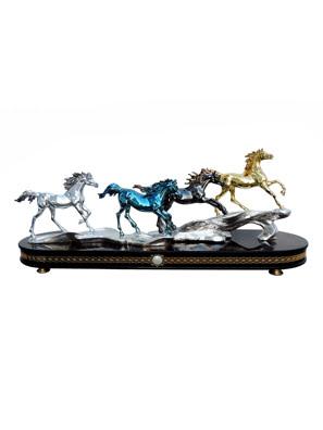 Tượng ngựa tứ mã Goldline Italia - D4568SBOG/BLBR-A