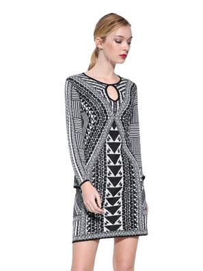 Đầm nữ dài Desigual Dresses CRUDO - 17WWVF211001