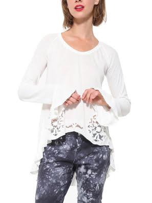 Áo thun dài tay nữ T-SHIRT, Size XS, CRUDO - 17WWTK281001XS