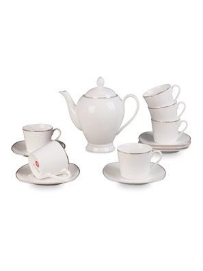 Bộ bình trà 14 món bằng sứ Delaware - 3000266