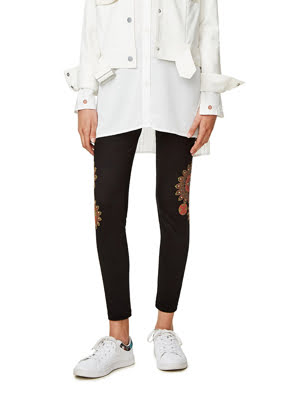 Quần legging nữ HOSIERY, Size S, NEGRO - 17WWKK142000S