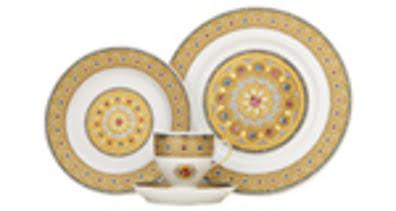 Bộ đĩa tách trà hoàng gia Italy 4 món Depos Diamanti - 180.4D