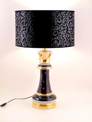 Đèn ngủ hoàng đế mạ vàng 24K nạm ngọc và pha lê đỏ BC - ST-RED849.NO-SRT-L