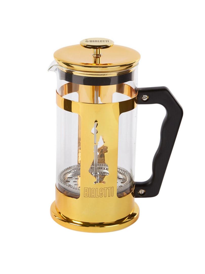 [MỚI] Bình pha cà phê Bialetti Press kiểu Pháp Preziosa Gold Collection màu vàng 1 lít - 0006850