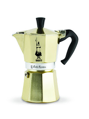 [MỚI] Bình pha cà phê Bialetti Moka Express Gold Collection màu vàng 6 cup - 0005176