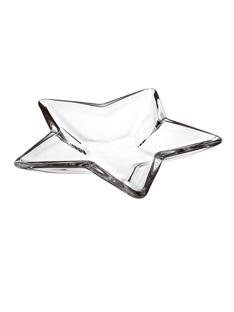 Khay thủy tinh trang trí Vidivi Stella mạ Platinum 35cm - 63530EM