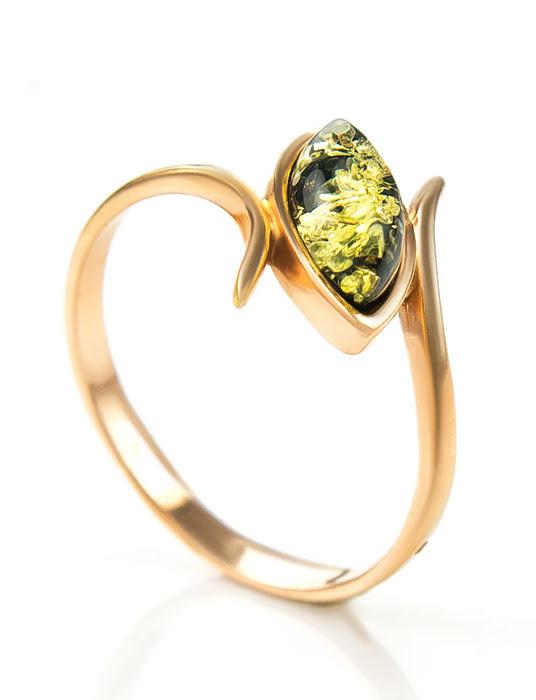 Nhẫn trang sức Amber Jewelry bạc 22K đính đá hổ phách thiên nhiên (Adagio 16.5) phủ vàng - 710006093
