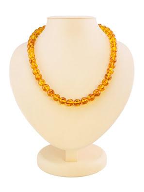 Chuỗi hạt cườm trang sức Amber Jewelry bằng đá hổ phách thiên nhiên (Shar cognac) - 600211002