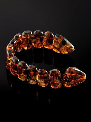 Chuỗi tràng hạt mân côi trang sức Amber Jewelry bằng đá hổ phách (Rosary of amber) - 705908017