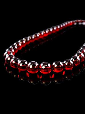 Chuỗi hạt cườm trang sức sang trọng  Amber Jewelry bằng đá hổ phách thiên nhiên (Cherry bowl) - 600210080