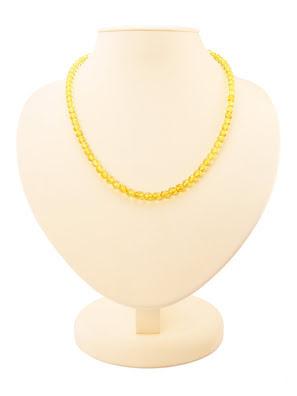 Chuỗi hạt cườm Amber Jewelry bằng đá hổ phách thiên nhiên (Caramel diamond lemon) - 6002203134