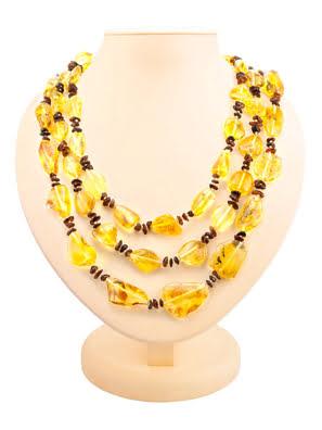Chuỗi hạt cườm trang sức Amber Jewelry bằng đá hổ phách thiên nhiên (Plum wild) - 6004203478