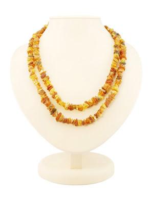 Chuỗi hạt cườm trang sức dài Amber Jewelry bằng đá hổ phách thiên nhiên (Caramel diamond cherry) - 5003210234