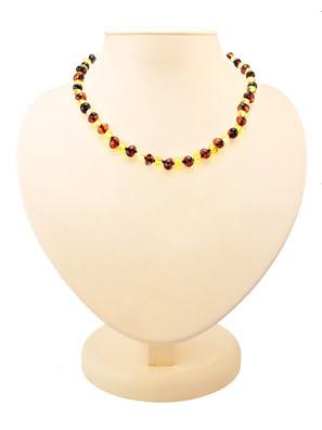 Chuỗi hạt cườm trang sức Amber Jewelry bằng đá hổ phách thiên nhiên (Pebbles) dành cho trẻ em - 607107038