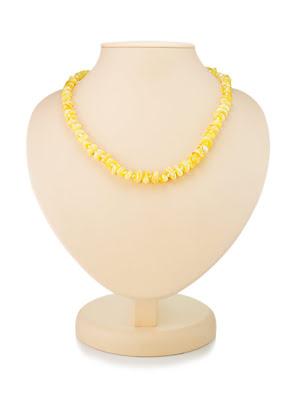 Chuỗi hạt cườm trang sức Amber Jewelry bằng đá hổ phách thiên nhiên (Pebbles) - 700402369