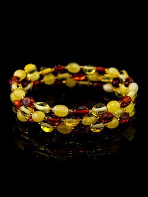 Vòng đeo tay trang sức Amber Jewelry bằng đá hổ phách thiên nhiên (Olive small ) - 709108292