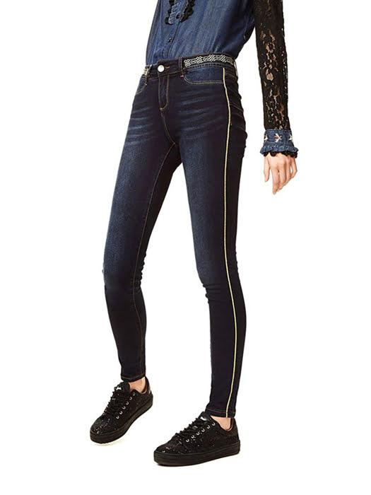Quần Jean nữ DENIM TROUSERS, Size 30, DENIM DARK BLUE - 17WWDD41500830