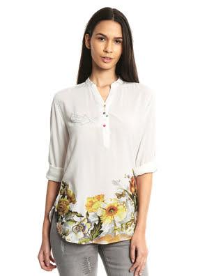 Áo dài tay nữ BLOUSE, Size XS, BLANCO - 17WWBW781000XS