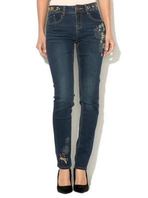 Quần Jean nữ DENIM TROUSERS, Size 30, DENIM DARK BLUE - 17WWDD10500830