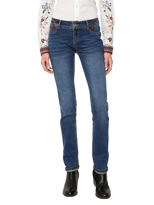 Quần Jean nữ DENIM TROUSERS, Size 29, JEANS BASIC - 17WWDD15500529