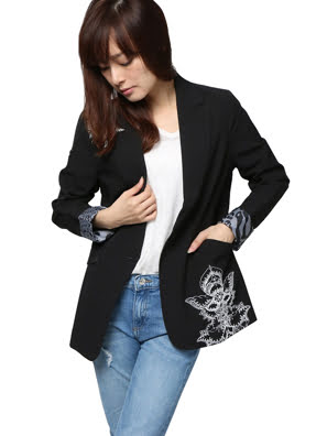 Áo khoác nữ COAT, Size 36, NEGRO - 17WWEWC3200036