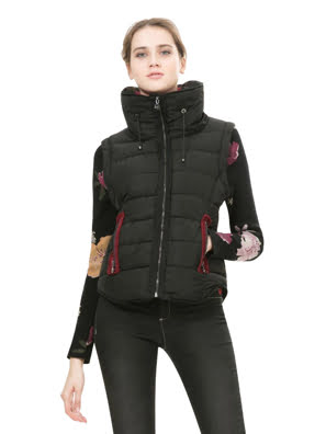 Áo khoác nữ Desigual NEGRO size 40 - 67E29D6200040