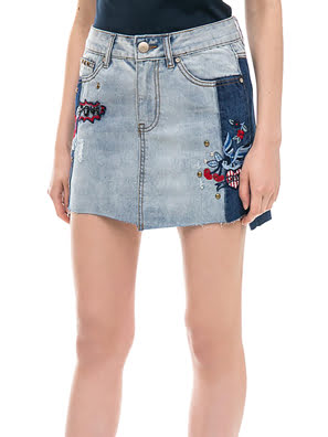 Picture of Chân váy SKIRT DENIM PATCH - 18SWFD025183