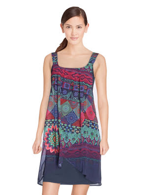 Đầm 2 dây Desigual Vest_Magic- 72V2EW05000