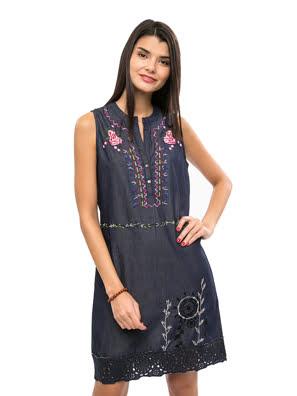 Váy sát nách Dresses DENIM DARK BLUE - 73V2JP55008