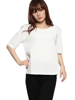 Áo cánh nữ ngắn tay BLUS_NAI - 67B2LA51001