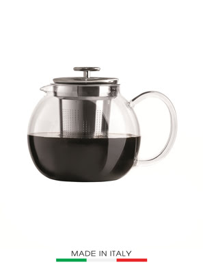 Bình pha trà thủy tinh Bialetti 1 lít bằng thủy tinh (Made in Italy) - 0003330/NW