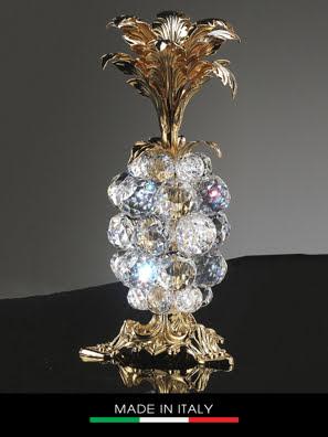 Vật trang trí trái thơm Debora Giada mạ vàng đính pha lê cao 26cm - 18981
