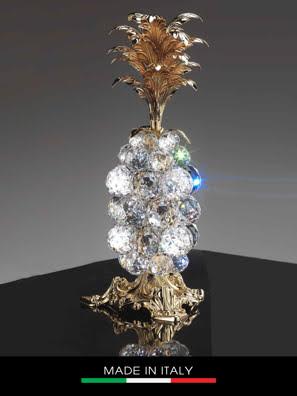 Vật trang trí trái thơm Debora Giada mạ vàng đính pha lê cao 36cm - 18982