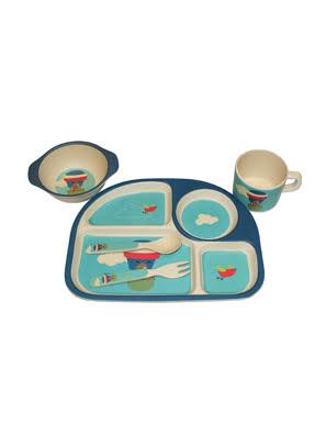 Bộ đồ ăn em bé bằng tre 5 món Moriitalia - DS50005