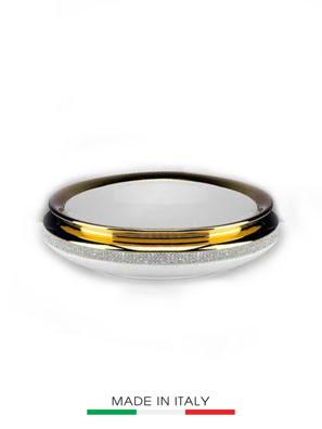 Bình centrepiece BC mạ vàng đính ngọc đường kính 35cm - 755/BO-STR