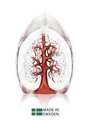 Vật trang trí hình cây của sự sống nhỏ bằng pha lê màu đỏ Maleras