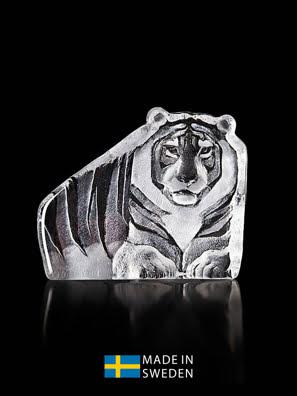 Vật trang trí hình con hổ bằng pha lê Maleras Tiger - 34190