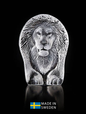 Vật trang trí hình con sư tử bằng pha lê Maleras