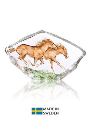 Vật trang trí hình hai con ngựa lớn bằng pha lê Maleras