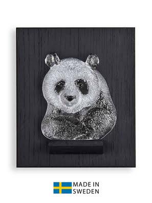 Vật trang trí hình gấu gắn tường bằng pha lê Maleras Mini Panda Wall - 63067