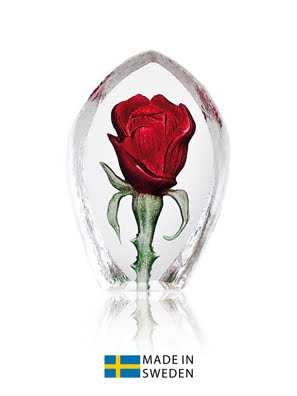Vật trang trí hình hoa hồng đỏ Maleras Miniature Rose Red - 88203