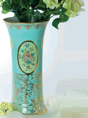 Bình hoa họa tiết vẽ tay Caroline Italy - A90.670