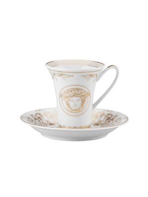 Bộ tách cà phê Espresso Versace Medusa Gala 1 tách và 1 dĩa - 403635.14720